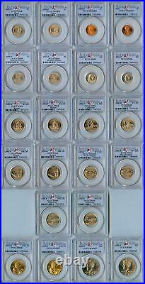 2005 Pcgs Certified Complete Satin Finish Mint Set 22 Pcgs Ms-68 Coins