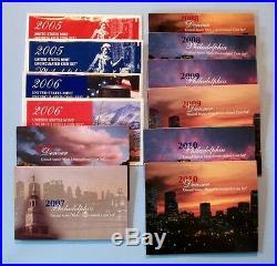 2005 through 2010 SATIN Mint Sets SIX COMPLETE SETS