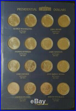 2006-2016 Complete set P and D Presidential Dollars in binder. UNC