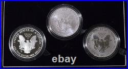 2006-W Silver Eagle 3 Coin Set Proof/ Uncirculated/Reverse Proof Complete Set