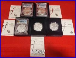 2006-w Thru 2020-w U. S. Burnished American Silver Eagles Coins Complete Set