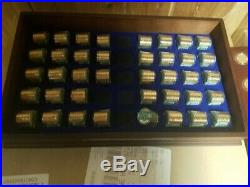 2007-10 Danbury Mint 39 Roll and 45 Coin Presidential Set with Box Complete