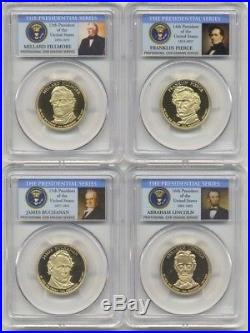2007-2011 2013-2016 S Presidential Dollar Proof Complete Set PCGS PR70 DCAM