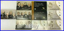 2007-2016 COMPLETE Presidential $1 Coin Proof Sets. With boxes/COAs. Free Ship