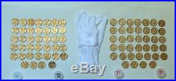 2007-2016 Complete P&D Pres Dollar Set. 78 BU Uncirc Coins in Coin Tubes