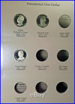 2007-2016 PRESIDENTIAL DOLLAR Complete 39-Coin UNC PROOF Set IN Dansco Album PR