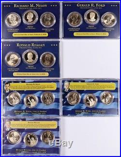 2007-2016 P/D/S-Proof Presidential Dollar $1 Complete 117-Coin Set withCSN Display