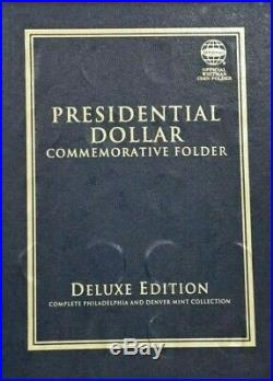2007-2016 P-d Presidential 78 Coin Complete Uncirculated Set In Whitman Folder