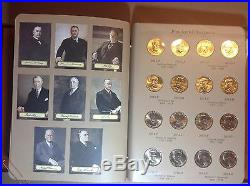 2007-2016 Presidential $1 Complete 78 Coin Set Uncirculated P & D In Dansco