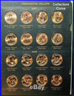 2007-2016 Presidential $1 PD 78 Coin COMPLETE Uncirculated Set inWhitman Album