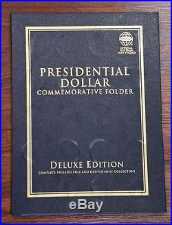 2007-2016 Presidential $1 PD 78 Coin COMPLETE Uncirculated Set in Whitman Folder