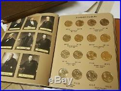 2007-2016 Presidential $1 P&D Complete Uncirculated 78 Coin Set in Dansco Album