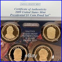 2007 2016 Presidential Dollar Proof Sets Complete 39 Coins (Ten Sets)
