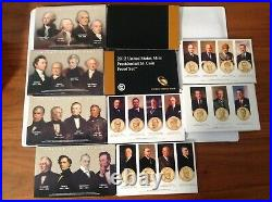 2007-2016 Presidential Dollar Proof Sets Complete set of 39 Coins (Ten Sets)bf