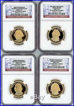 2007-2016 S Complete 39 Coin Presidential Dollar Proof Set NGC