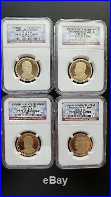 2007-2016 S Complete 39 Coin Presidential Dollar Proof Set NGC PF70UC-GREAT BUY