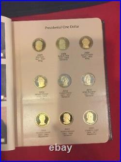 2007 2016 S Presidential $1 39 Coin PROOF COMPLETE Set in New Dansco Album