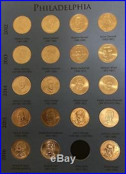 2007 2016 US Presidential $1 Unc. P&D Complete Set of 78 in Whitman Folder