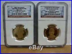2007-S to 2016-S Complete 39 Coin Presidential Dollar Proof Set NGC PF70UC
