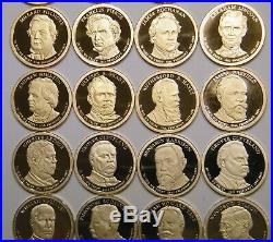 2007s-2016s / 39 Presidential Proof Dollars Completed Set Collection Us Coin