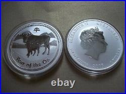 2008-2019 Australia $1X12 Australia Perth Mint Complete 1oz 12-Coin Lunar II Set