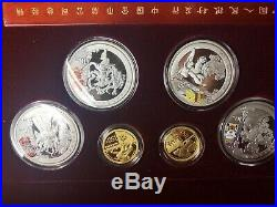 2008 China Beijing Olympics 18 Gold & Silver Coins Boxes COAs Complete Set