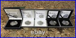 2009-2013 Treasures of the World Complete Set of 5 Silver Coins Palau