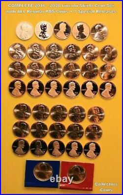 2010-2020 PDS +S+W 40 Coin COMPLETE Lincoln Shield Cent Set wALL Special Release
