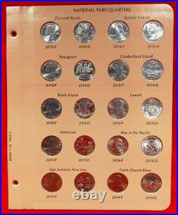 2010-2021 Complete Atb Quarter Set 163 P, D & S Bu Coins In 2 Dansco Albums