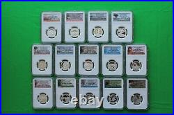2010-2021 S Complete Perfect Set Of Silver Atb Quarters Ngc Pf 70