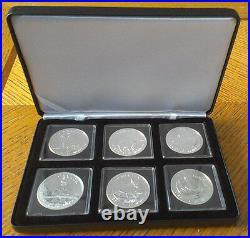 2011 2012 2013 Canada Wild Life UNC Complete Box Set 6x 1oz SILVER. 9999 coins
