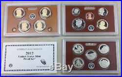 2012 US MINT PROOF SET Complete with Original Box and COA