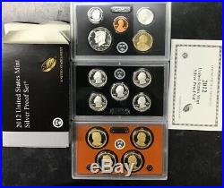2012 United States Mint Silver Proof Set Complete 14 Coins