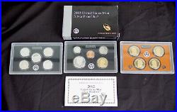 2012-s 14 Piece Silver Proof Set Complete