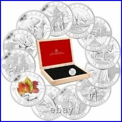 2013 O Canada Series $10 Fine Silver Complete 12-Coin Set