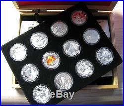 2013 Proof $10 O Canada COMPLETE SET all 12 coins with Display Box & COAs