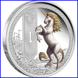 2013 Tuvalu Mythical Creatures complete set (5 proof coins) 1 oz. 999 silver