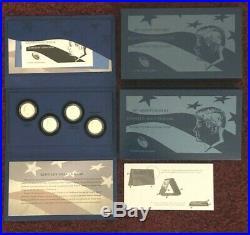 2014 50th Anniversary Kennedy Half Dollar Silver 4 Coin P D S W Complete Set COA