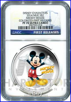 2014 Disney Mickey & Friends Complete 6-coin Set Ngc Pf70 First Releases