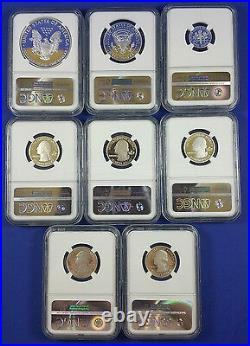 2014 Limited Edition Silver Proof Set NGC PF70 Complete 8 Coin Set