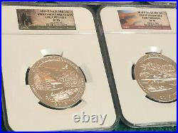 2014 P America ATB 5 oz COMPLETE SET NGC SP70 Early Releases