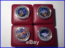 2015 RCM Complete Set Of Glow-in-the-Dark Star Charts. 9999 Fine Silver Coins
