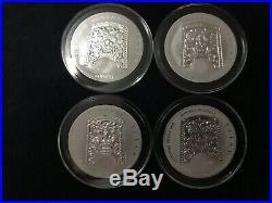 2016-19 South Korean Chiwoo Complete BU Set Of 11 In Premium Black Ring Capsules
