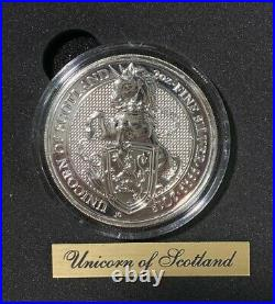2016-2021 Britain 2 oz Silver Queen's Beasts 10 Coin Complete Set