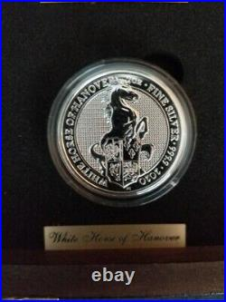 2016-2021 Britain 2oz Silver Queen's Beasts 10 Coin Complete Set