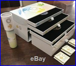 2016 $20 Fine Silver Colorized Coins KALEIDOSCOPE Complete 3- coin set w COA