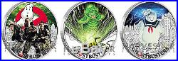 2017 Ghostbusters Coin Series Complete 3-coin Set All Coins In Series Ogp