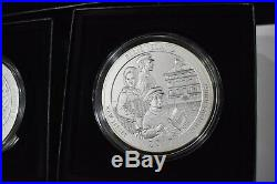 2017 Silver Coin 5oz ATB Complete Set (5) Uncirculated Quarter