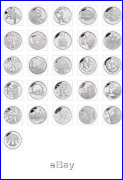 2018 Great British 10p Coin Hunt Complete Full Set 26 Uncirculated Coins In hand