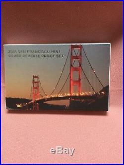 2018 San Francisco Mint Silver Reverse Proof Set Limited Mintage Complete NIB